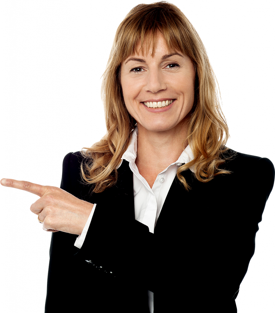 256 2564288 getting down to business business woman pointing png