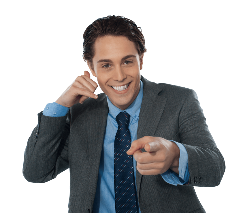 pointing clipart mens model 2