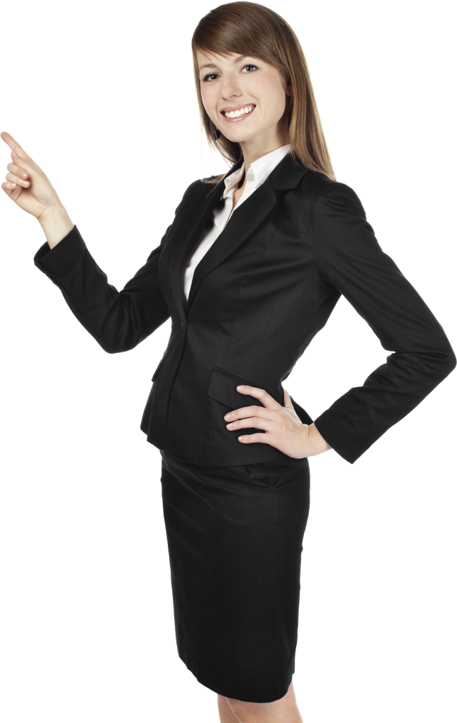 7725604 woman pointing stock business women png transparent png